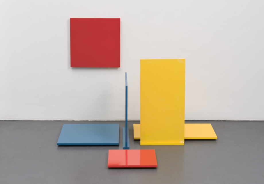Dieter Hacker, Bodenskulptur, 1960 - 1961, Wood, Lacquer, variable 50 x 100 x 100 cm