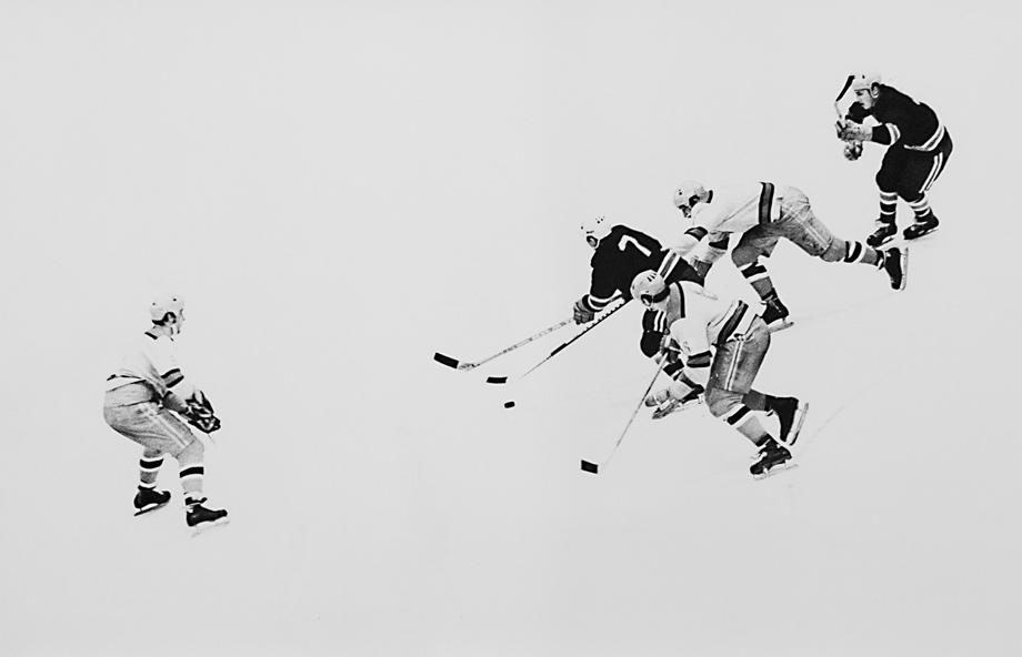 Alexander Abaza, Hockey Game, 1970s, Silbergelatineprint, 80 x 48 cm