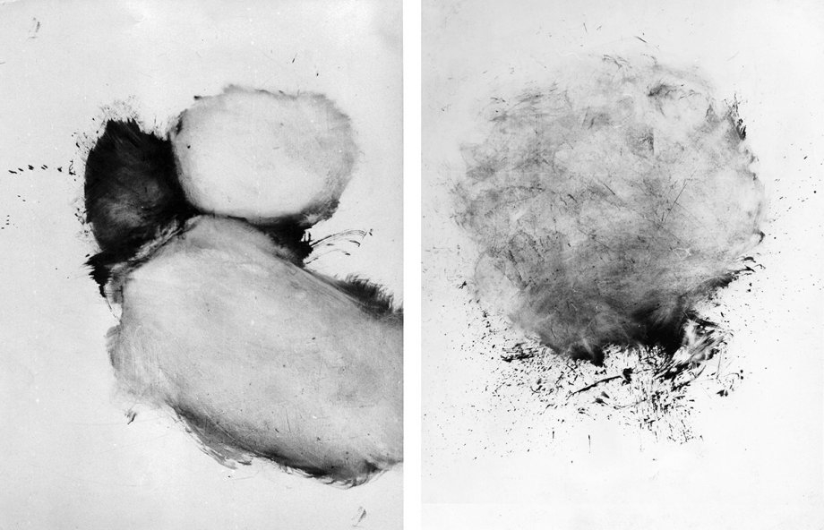 "Guenter Weseler, 'Querelle', 1964, Eitempera auf Holz, 85x120 cm; Guenter Weseler, ""Vetiver"", 1965, Eitempera auf Holz, 130x100 cm"