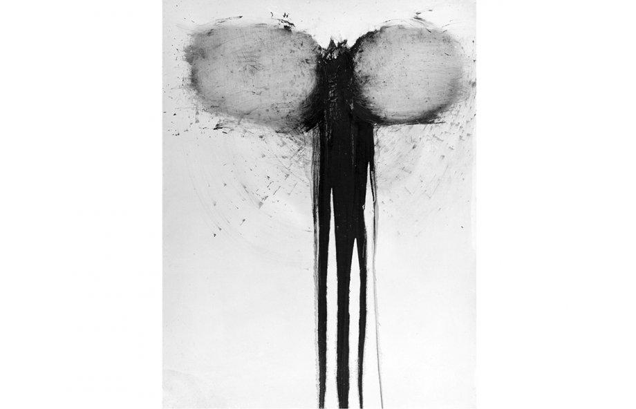 Guenter Weseler, '9 Ehebrüche, 12 Affairen, 16 Techtelmechtel und soetwas ähnliches wie Notzucht lasten auf der Seele Florialis', 1964, Eitempera auf Holz, 94x130 cm