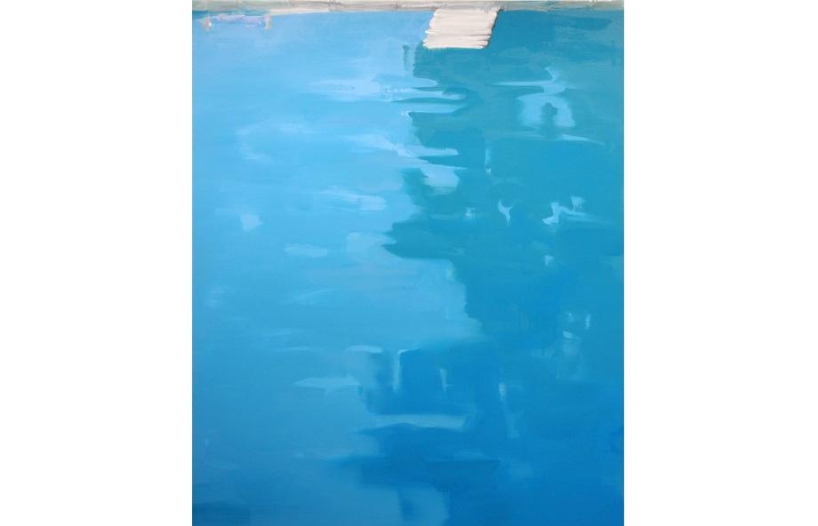 Martin Borowski, Pool 6, 2015, oil on canvas, 195 x 160 cm