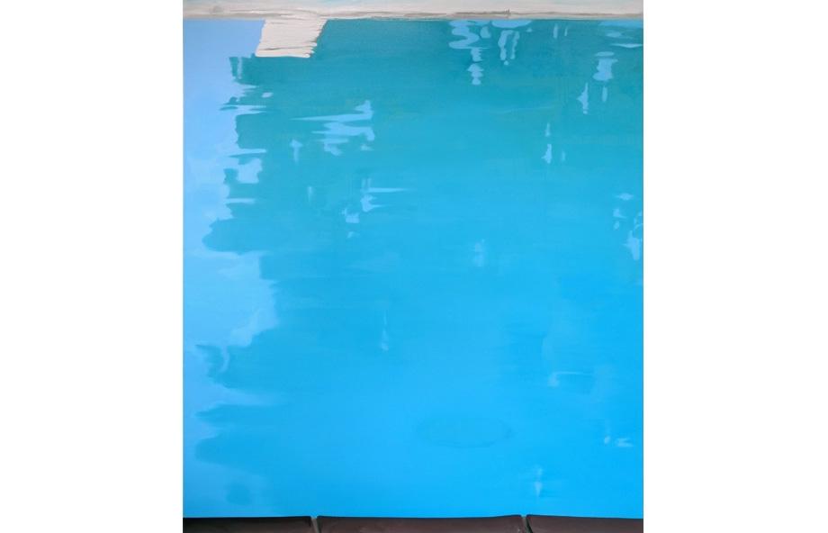 Martin Borowski, Pool 2, 2015, oil on canvas, 213 x 183 cm