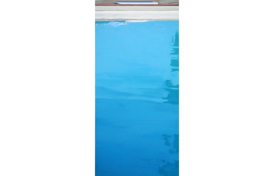 Martin Borowski, Pool 7, 2015, oil on canvas, 195 x 90 cm