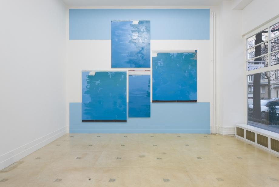 Martin Borowski, Pool 2, 3, 6, 7, 2015, oil on canvas