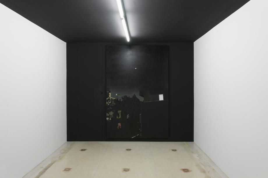 Martin Borowski, Nachtbild, 2015, oil on canvas, 237 x 158 cm