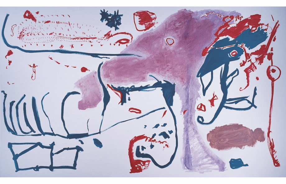 Gonn Mosny, Untitled Nr. 33, 1987 Oil on Canvas, 200 x 335 cm