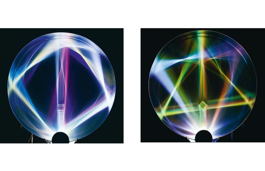 Peter Sedgley, Spin & Wing, 1986, Composite und DG / Composite und DG, t = 20, Ø 140 cm
