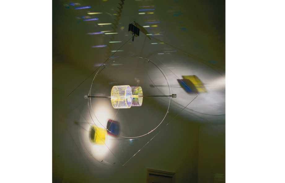 Peter Sedgley, Trapeze Dancer, 1993, Glas Solar-Tech / Glass Solar-Technik, 75 x 75 x 70 cm