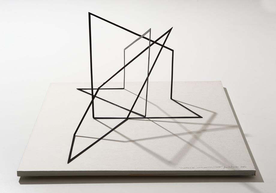 Grazia Varisco, Gnomoni (Modello su tavola), 1984, Diehl CUBE