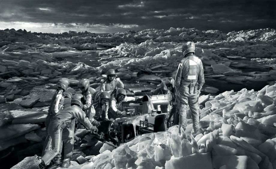 Das Rennen, 2015, Öl auf Leinwand, 200 x 325 cm