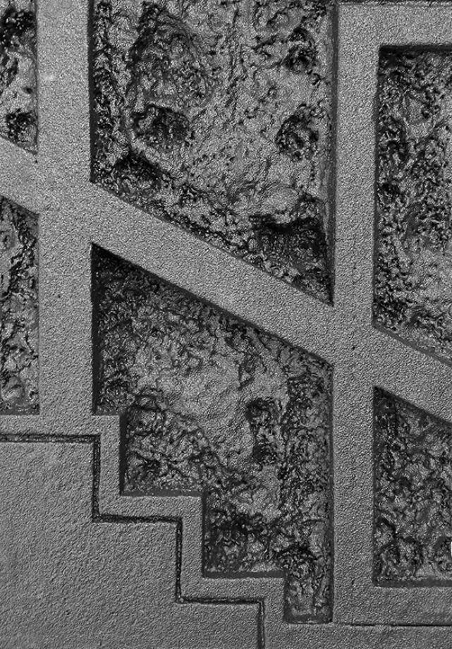 Vlad Olariu, Ohne Titel (abstract comics 1), EPS Schaum, Polyurethan, 50 x 70 x 10 cm, 2016