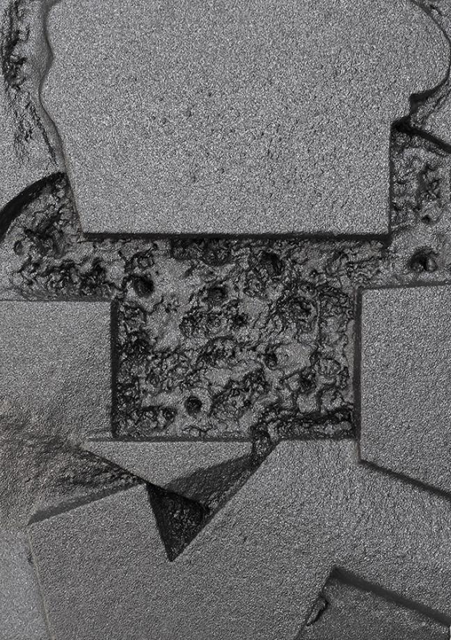 Vlad Olariu, Ohne Titel (abstract comics 3), EPS Schaum, Polyurethan, 50 x 70 x 10 cm, 2016